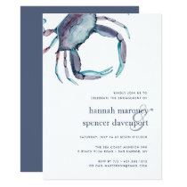 Blue Crab Engagement Party Invitation