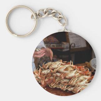 Blue Crab Feast Basic Round Button Keychain