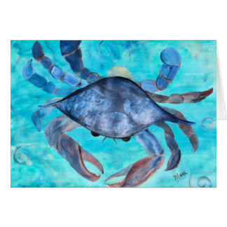 Blue Crab Ggreeting Card Greeting Card