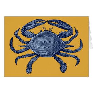 Blue crab greeting card