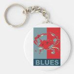 Blue Crab Iconized Keychain