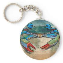 Blue Crab Keychain