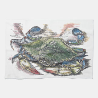 Blue Crab Kitchen Towel