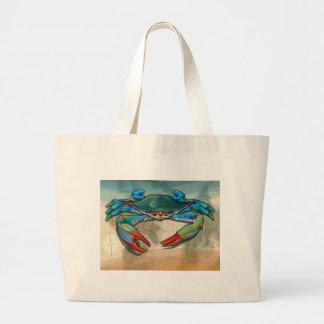 Blue Crab Large Tote Bag