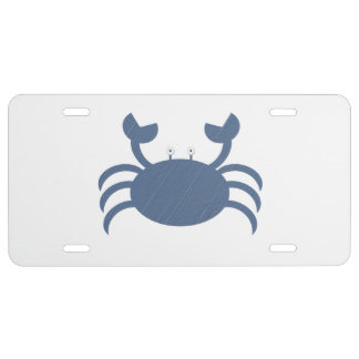 Blue Crab License Plate