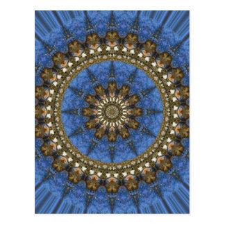 Blue Crab Mandala Postcard