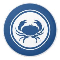 Blue Crab Marine Creature  ceramic knob