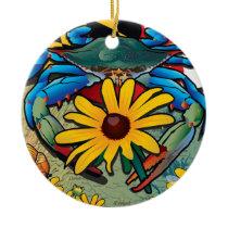Blue Crab Maryland Black-eyed Susan Ceramic Ornament