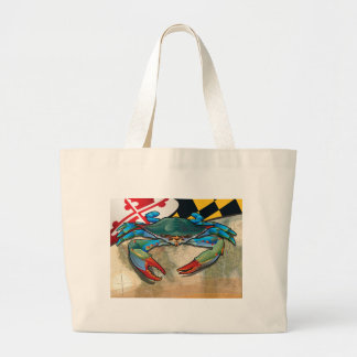 Blue Crab of Maryland Large Tote Bag