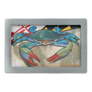 Blue Crab of Maryland Rectangular Belt Buckle