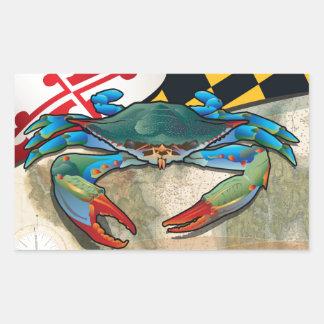 Blue Crab of Maryland Rectangular Sticker