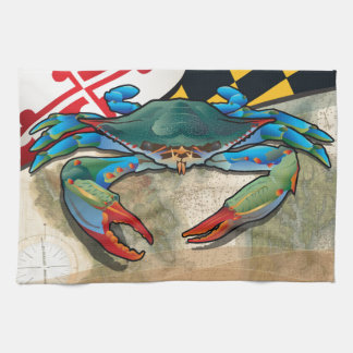Blue Crab of Maryland Towel