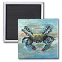 Blue Crab on Blue Magnet