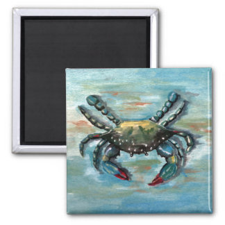 Blue Crab on Blue Magnet