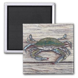 Blue Crab on Dock Magnet