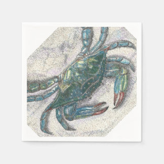 Blue Crab Paper Napkins Disposable Napkin