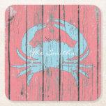 "Blue Crab Personalize Square Paper Coaster<br><div class=""desc"">Blue Crab Personalize</div>"