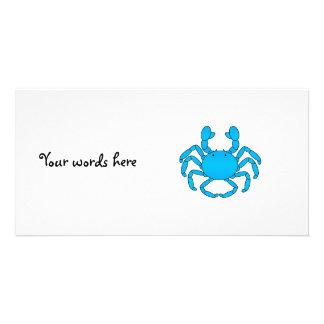 Blue crab photo card