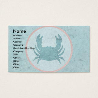 Blue Crab Pink Ring Business Card