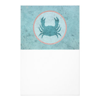 Blue Crab Pink Ring Stationery