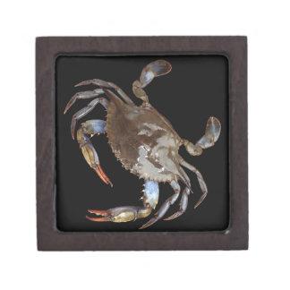 Blue Crab Premium Jewelry Box