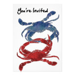 Blue Crab Red Crab Crab You're Invited Personalized Announcement