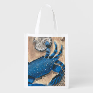 Blue Crab Reusable Grocery Bag