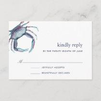 Blue Crab RSVP Card
