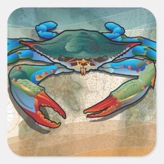Blue Crab Square Sticker