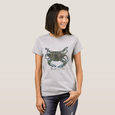 Beach Themed Blue Crab T-Shirt