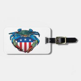 Blue Crab USA Crest Bag Tag