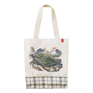 Blue Crab Zazzle Heart Tote Zazzle HEART Tote Bag
