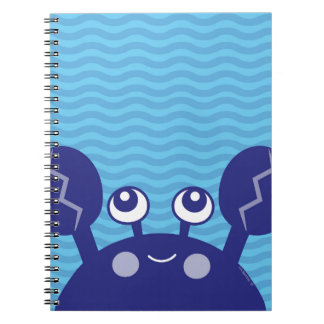 Blue Crabby Crab Notebook