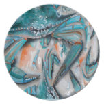Blue Crabs Design Party Plate