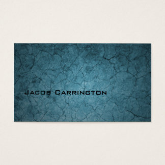 Blue Cracked Dirt Business Card