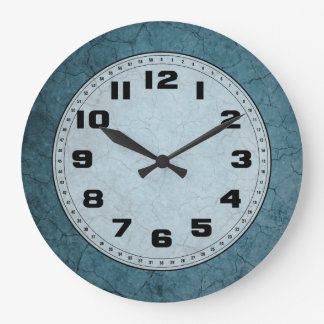 Blue Cracked Dirt Wall Clocks