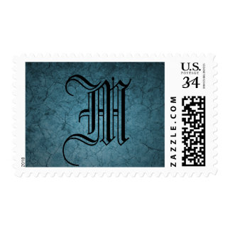 Blue Cracked Dirt Postage