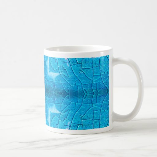 Blue Crackle Pot Kaleidoscope Coffee Mugs