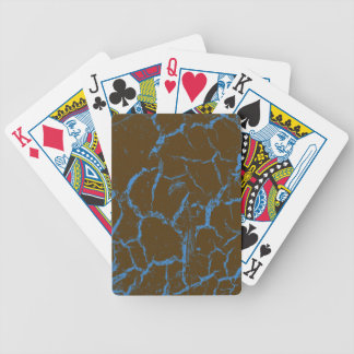 BLUE CRACKS ON BROWN BICYCLE PLAYING CARDS