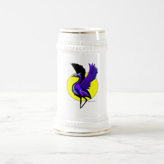Blue Crane Beer Stien Beer Stein