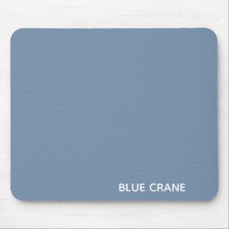 Blue Crane blue color name Mouse Pad
