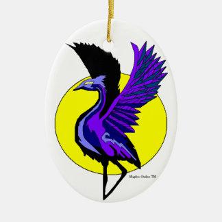 Blue Crane Ornament