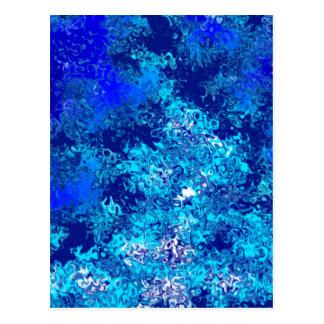 Blue Crash Abstract Post Card
