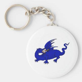 Blue Crawling Flame Dragon Keychain