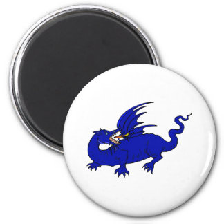 Blue Crawling Flame Dragon Magnet