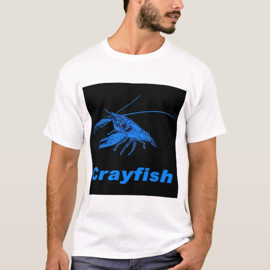 blue crayfish (Black scenery) T-Shirt