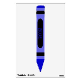 Blue Crayon Wall Skin