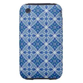 Blue Crazy Quilt (2) Tough iPhone 3 Cover