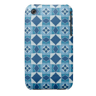 Blue Crazy Quilt iPhone 3 Cover
