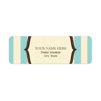 Blue Cream & Brown Vintage Circus Inspired Label
